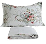 FADFAY Vintage Rose Floral Bed Sheet Set Twin XL Cotton Sheets 4-Piece Twin Extra Long Size