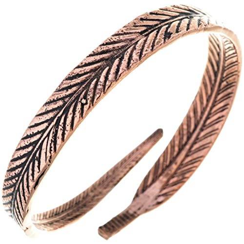 Navajo Copper Feather Bracelet Ladies Wraparound Wrist Style 80352