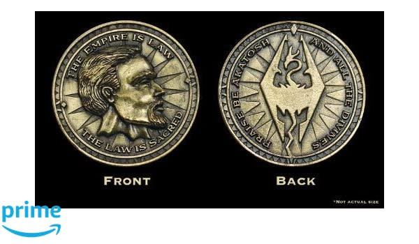 The Elder Scrolls Oblivion Skyrim Imperial Septim Coin ...