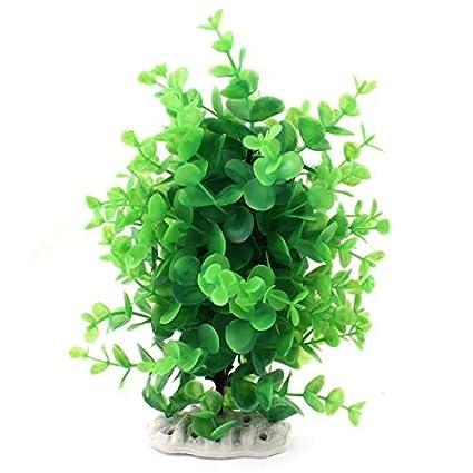eDealMax Acuario plástico Paisaje Planta Decoración Agua 9,4 pulgadas Altura Verde
