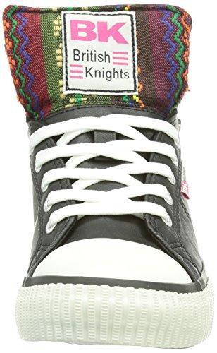 British Knights DEE  Damen Hohe Sneakers Schwarz (Black-Pink07)