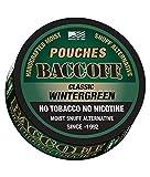 tobacco alternative pouches - BaccOff, Classic Wintergreen Pouches, Premium Tobacco Free, Nicotine Free Snuff Alternative (10 Cans)