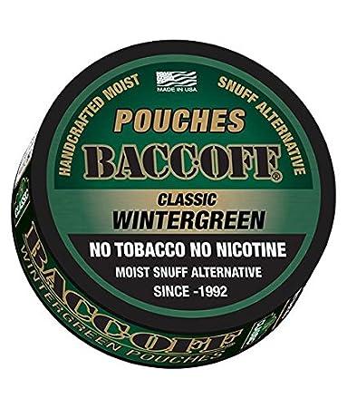 amazon com baccoff classic wintergreen pouches premium tobacco rh amazon com
