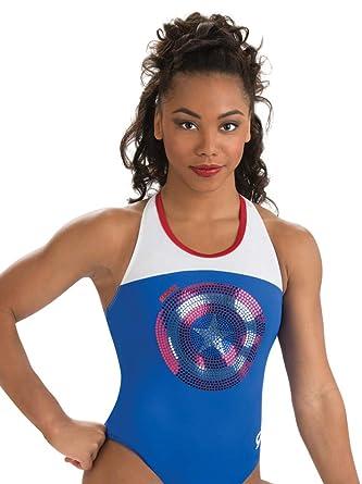 9081075f266a Amazon.com: Marvel Captain America Leotard GK | Shield (Royal Blue ...