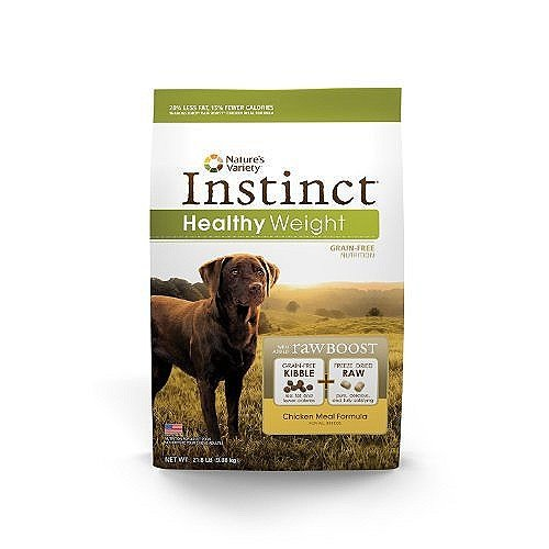 Instinct Raw Boost Healthy Weight Grain Free Chicken Meal Formula Natural Dry Dog Food by Nature's Variety, 21.8 lb. Bag