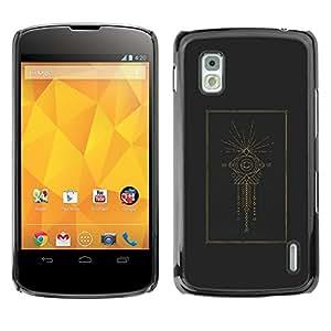 For LG Google NEXUS 4 / Mako / E960 Case , Indian Holy Structure Eye Fish - Diseño Patrón Teléfono Caso Cubierta Case Bumper Duro Protección Case Cover Funda