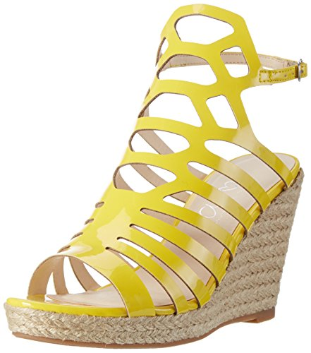 Another Pair of Shoes Wyatte1, Sandalias con Cuña para Mujer Amarillo (Yellow51)