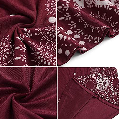 Party Falda Solid Wine Chiffon Evening Vest Dresses Sleeveless Women's Summer NREALY 10xfx