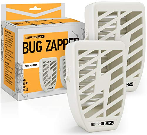 Indoor Plug-in Bug Zapper - 2 Pack - 3.5 W / 110v with UV Light - Power Portable Home Electric Insect Trap - Odorless Noiseless - Blue Night Lamp for Removes Flies Mosquitos Gnats Moth and Bugs (Indoor Stink Bug Repellent)