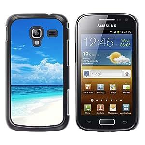 TopCaseStore / la caja del caucho duro de la cubierta de protección de la piel - Caribbean White Sand Paradise Beach - Samsung Galaxy Ace 2 I8160 Ace II X S7560M