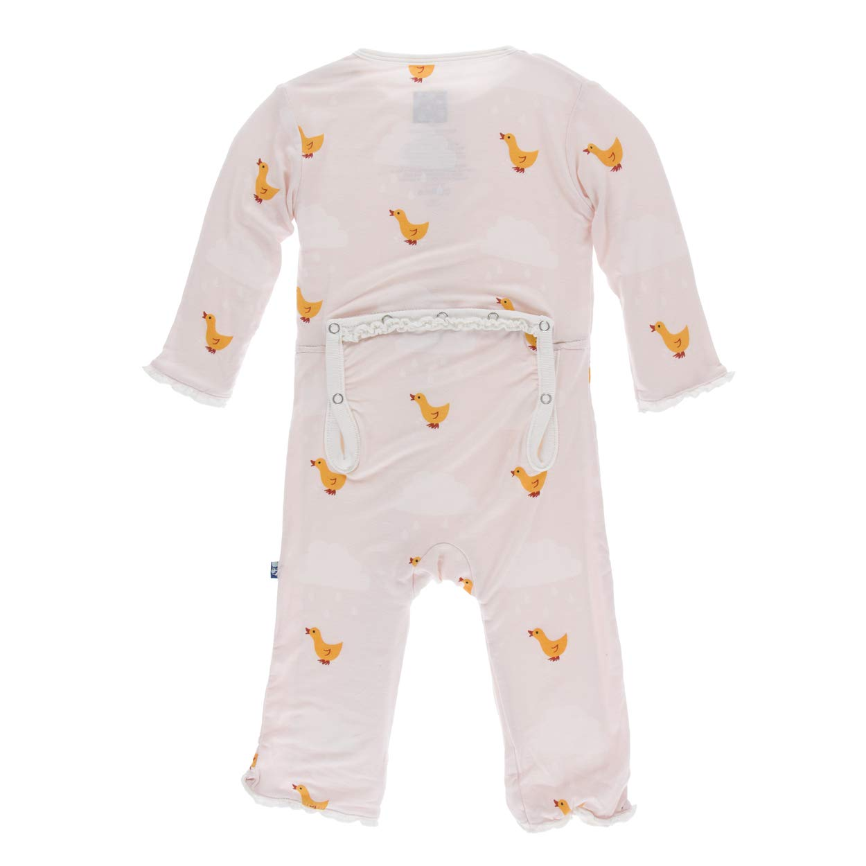KicKee Pants Bamboo Muffin Ruffle Coverall with Zipper