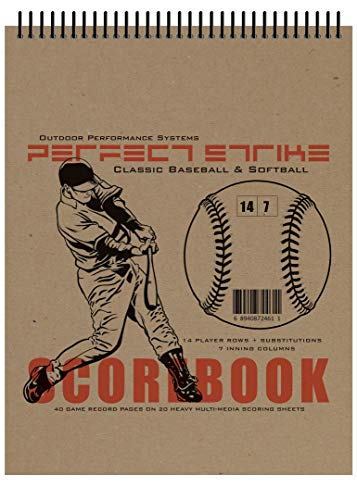 Perfect Strike SCOREBOOK with Rules and Scoring Instructions : Heavy Duty. Great for Baseball and Softball. (1)