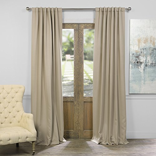 HPD HALF PRICE DRAPES BOCH-151304-84 Blackout Curtain, Classic Taupe