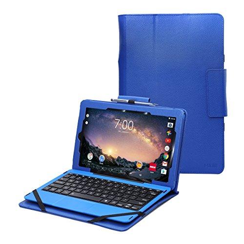 "RCA Galileo Pro 11.5 case by i-UniK Compatible RCA Galileo Pro 11.5"" Model #RCT6513W87DK C Tablet with Keyboard Case [Bonus Stylus] (Blue)"