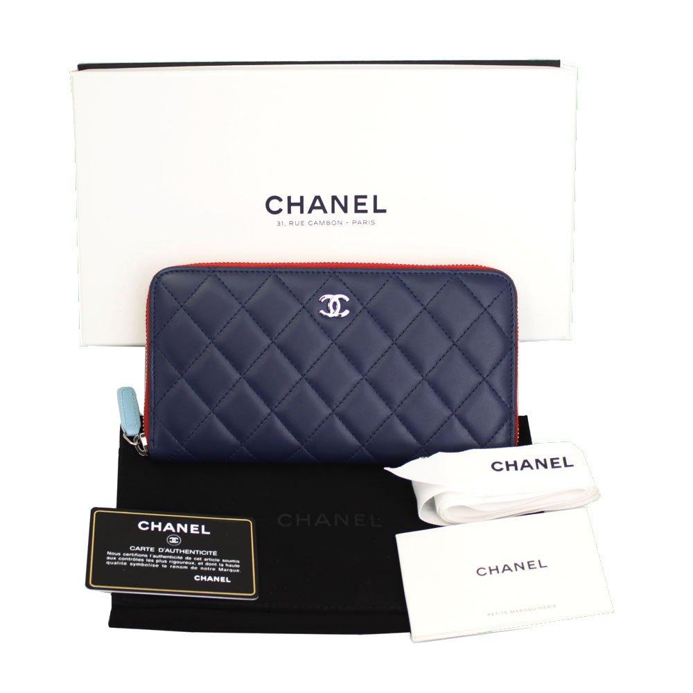 f6314a89914c Amazon | CHANEL(シャネル)ラウンドファスナー長財布 ネイビー×レッド マトラッセ ラムスキン A50097 Y60710 C8953  [並行輸入品] | CHANEL(シャネル) | 財布