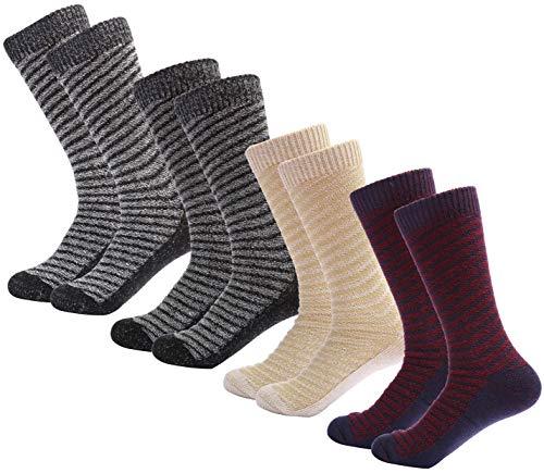 Mio Marino Womens Warm Wool Socks - Soft Cozy Thick Knitted Socks - 4 Pack - Gift Box