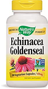 Nature's Way Echinacea and Goldenseal, 450 mg, 180 Capsules