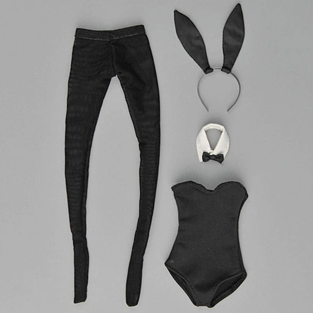 1//6 Female Bunny Girl Lingerie W// Bow Tie Handband Suit for 12/'/' CY TBLeague