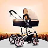 Kids Pram Travel System 3 in 1 Combi Stroller for Infant and Toddler City Select Folding Convertible Baby Carriage Luxury High View Anti-Shock Infant Pram Stroller Reverse Or Forward Facing Rain Cove
