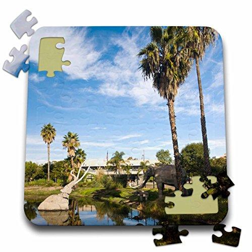 Danita Delimont - Los Angeles - CA, Los Angeles. Miracle Mile, La Brea Tar Pits - US05 WBI0578 - Walter Bibikow - 10x10 Inch Puzzle - Brea Ca