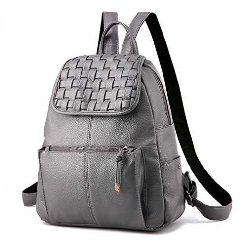 Purse Casual Mini Grey Leather Backpack Fashion For Shoulder Girls Backpack amp; Bag School Women g0aqpdUar
