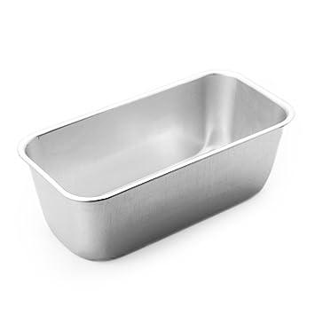 Tmall 1 pieza rectangular caja de aluminio molde para bizcochos para el hogar pan cake pasteles Hornear Bakeware: Amazon.es: Hogar