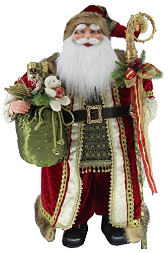 36'' Inch Standing Grand Santa Claus Christmas Figurine Figure Decoration 53603 by Windy Hill Collection