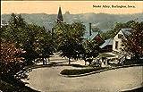 Snake Alley Burlington, Iowa Original Vintage Postcard