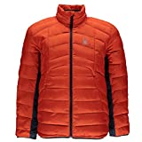 Spyder Men's Geared Synthetic Down Jacket, Burst/Frontier, Large
