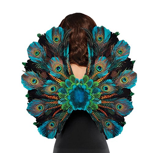 Peacock Costume Mens (Amscan Womens Peacock Feather Halloween Costume Cosplay Wings)