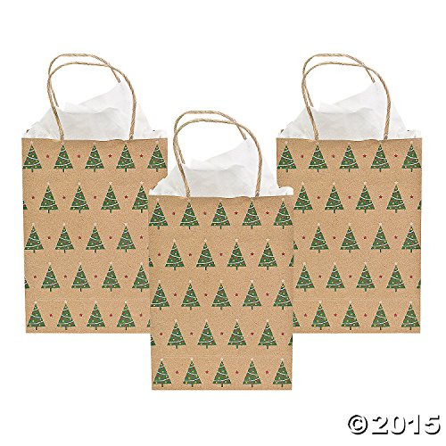 Christmas Tree Kraft Gift Bags