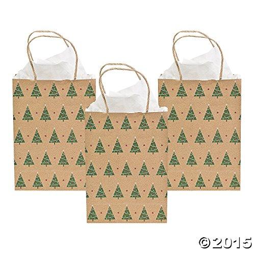 Christmas Tree Kraft Gift Bags