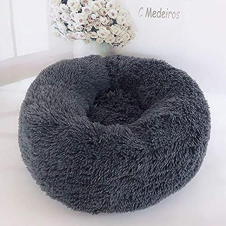 c/ómoda para dormir en invierno calmante lavable suave 100 cm cama para mascotas de felpa para perro calmante cama redonda para perro Cama redonda para mascotas