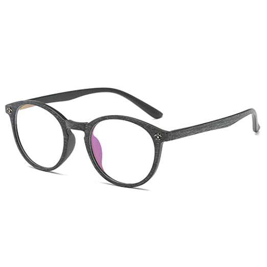 b2247b97d6bac D.King Glasses Vintage Classic Round Full Frame Wood Grain Unisex Eyelasses  Black