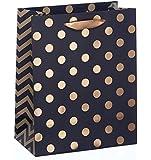 Gift Bag - Black With Gold Foil Spots - Medium