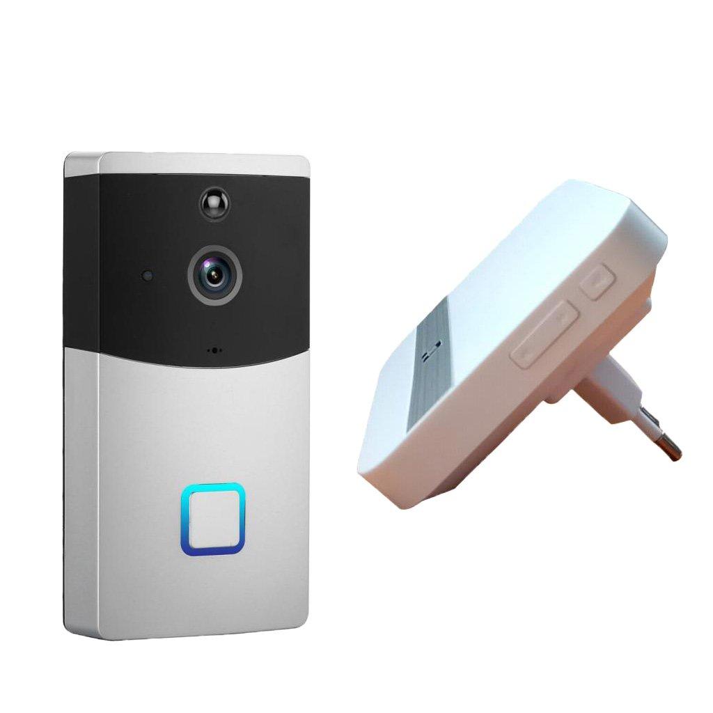 FLAMEER Multifunktions Wireless Wifi Video 720p HD Türklingel mit Gegensprechanlage, appgesteuert