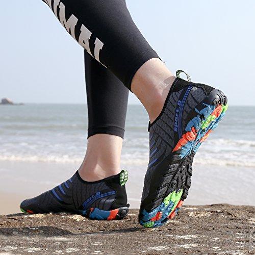 Mar Hombre Buceo Río Piscina Zapatos Escarpines Acuáticos Aqua De Snorkel Mujer Para Agua Vela gris Deportes Actualizado Natación Cycling Playa Calzado Surf wfxzqxvUt