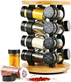 Orii Gourmet Round 16 Jar Spice Rack, Bamboo GSR2721