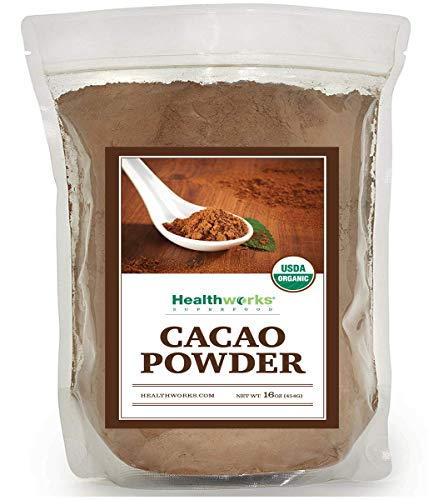 Healthworks Cacao Powder Organic 1 Pound (The Best Oatmeal Chocolate Chip Cookies In The World Recipe)