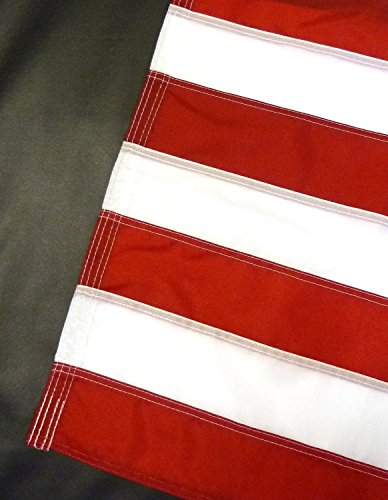 US Flag Factory 4'x6' US AMERICAN FLAG (Pole Sleeve) Outdoor SolarMax Nylon Flag (Embroidered Stars & Sewn Stripes) - Made in America