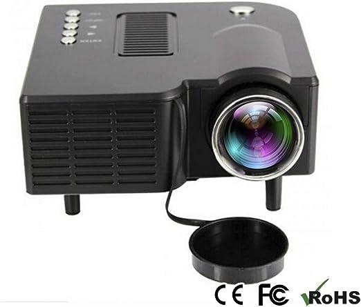 H.L Mini proyector, proyector LED con HDMI USB AV VGA SD para ...