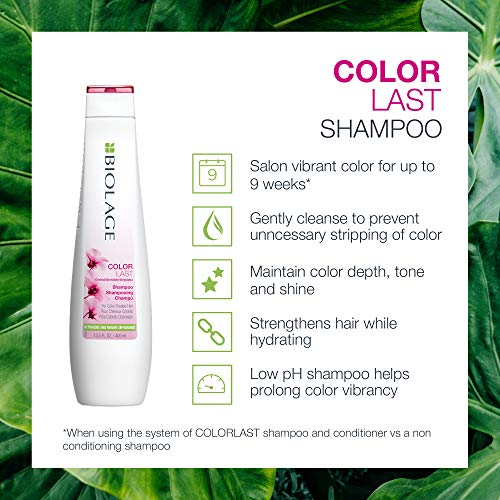 BIOLAGE Colorlast Shampoo | Helps Protect Hair & Maintain Vibrant Color | Paraben-Free | For Color-Treated Hair