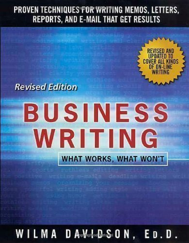 Ebook By Wilma Davidson Business Writing What Works What