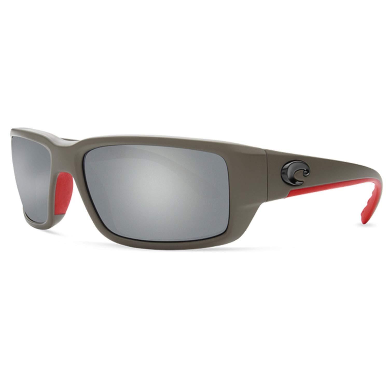 35b9b862be Amazon.com  Costa Del Mar Fantail Sunglasses Race Gray Gray Silver Mirror  580Plastic  Costa Del Mar  Clothing