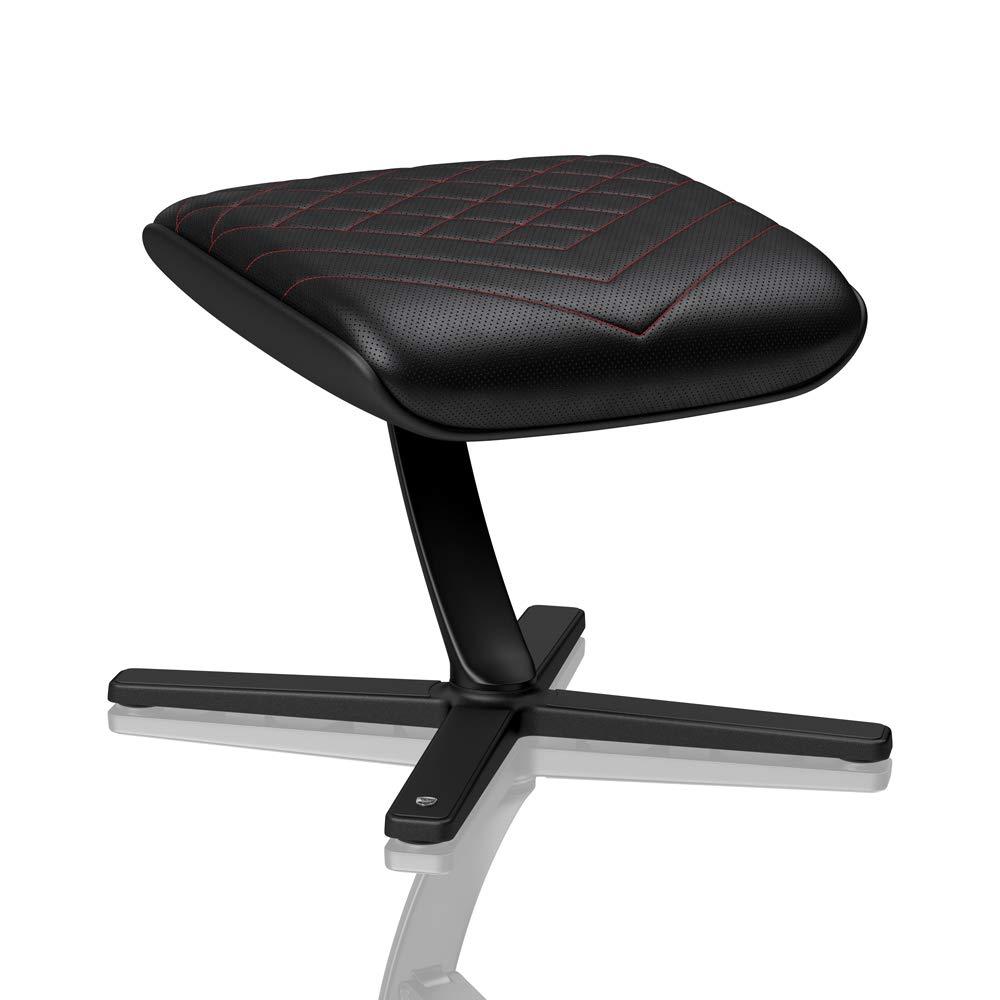 Ribaltabile fino a 57 /° Poggiapiedi Nero // Azzurro Girevole a 360 /° PU ecopelle Sedie da ufficio noblechairs Poggiapiedi per sedie da gaming
