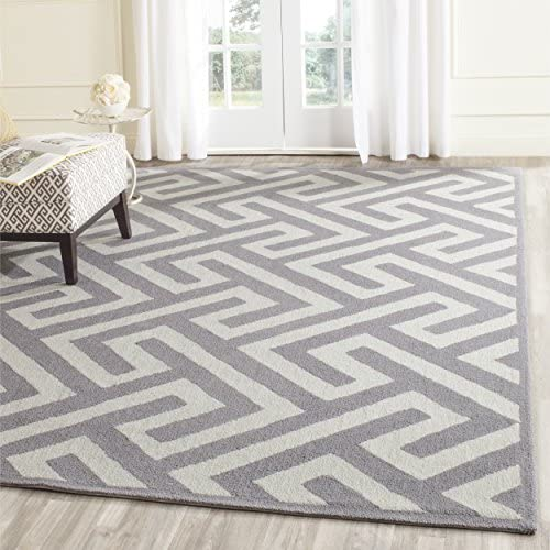 Safavieh Four Seasons Collection FRS241M Hand-Hooked Area Rug, 8 x 10 , Ivory Grey