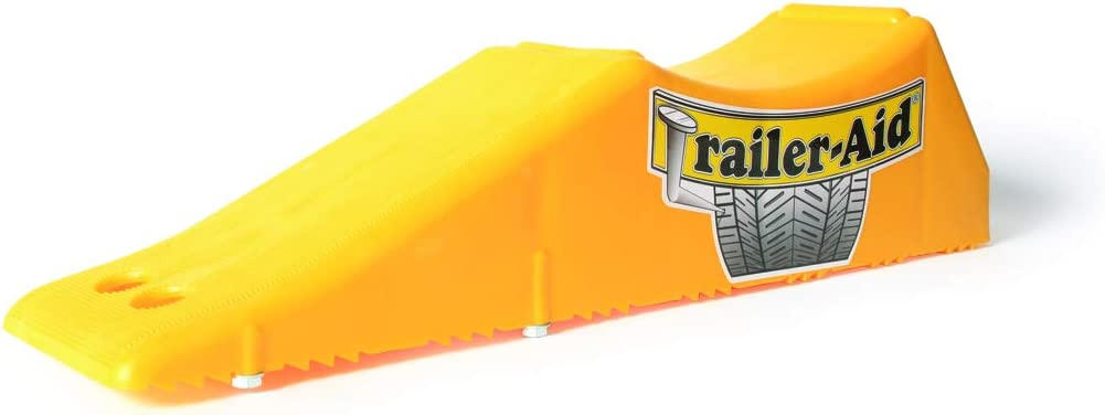 TrailerAid Tandem Tire Changing Ramp Holds up to 15000 Pounds 45 Inch Lift Black