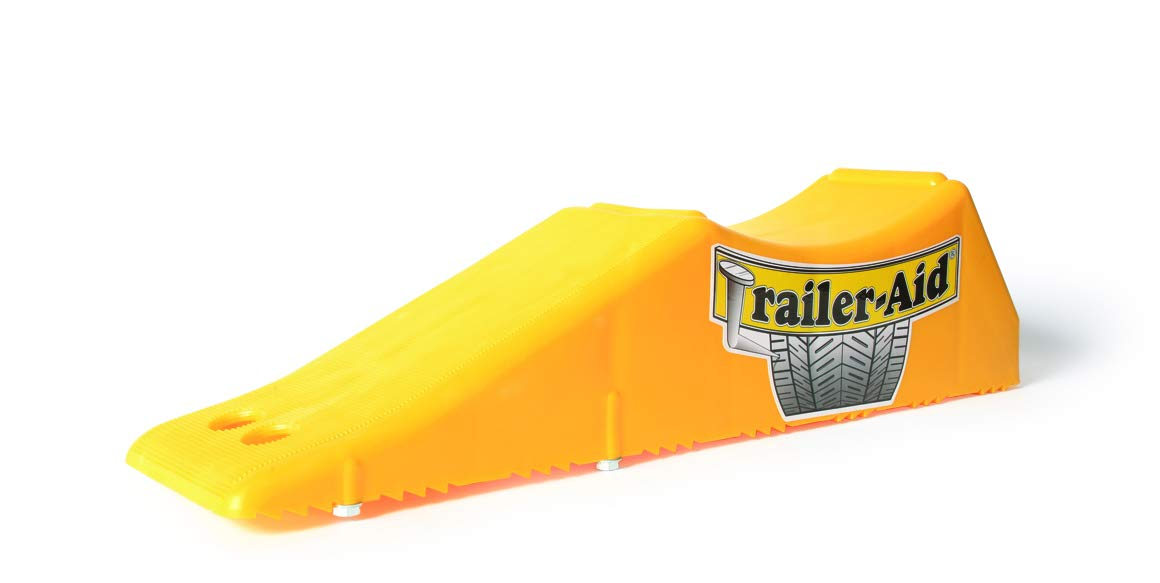 Trailer-Aid Tandem Tire Changing Ramp, The Fast and Easy Way To Change A Trailer's Flat Tire, Holds up to 15,000 lbs, 4.5 Inch Lift (Yellow)