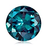 0.25-0.34 Cts of 4x4 mm AAA Round Russian Lab Created Alexandrite ( 1 pc ) Loose Gemstone