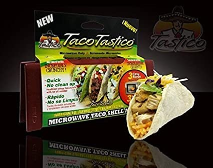 Taco Tastico Makes Taco Shells Hard / Crunchy in your Microwave, Use with any Kind